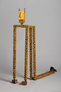 Abstract jaguar statue