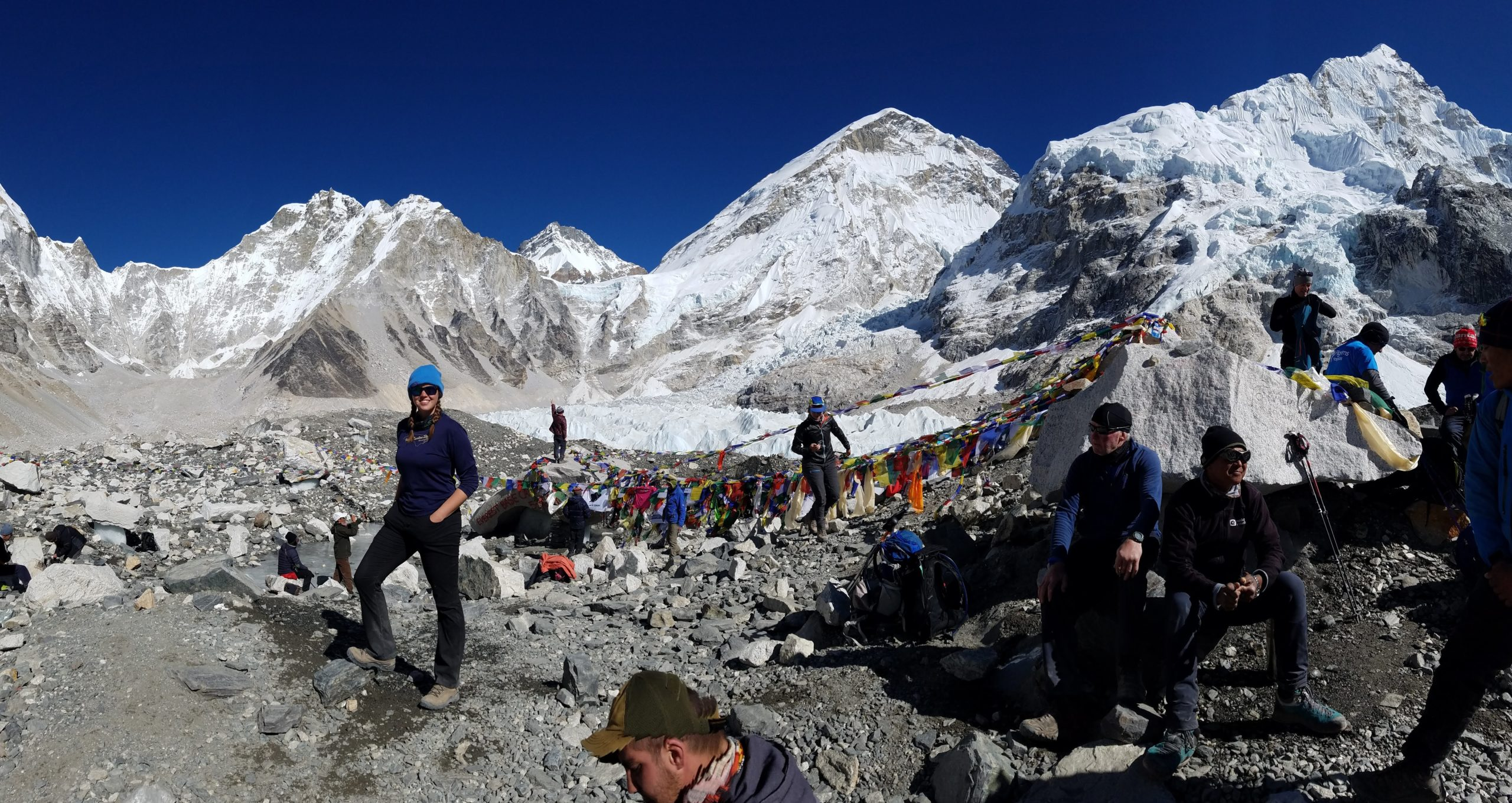 Photo of Colleen Ford at Mt. Everest Base Camp