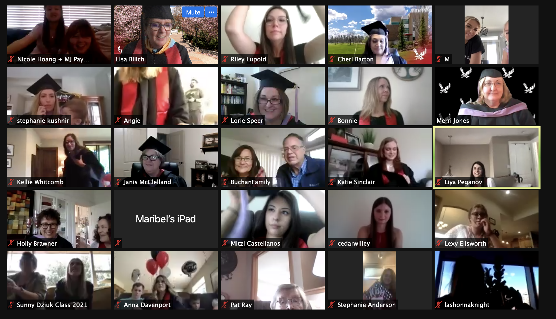 Screenshot of Virtual Graduation