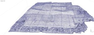 Wireframe model of the Palouse Prairie acreage on campus
