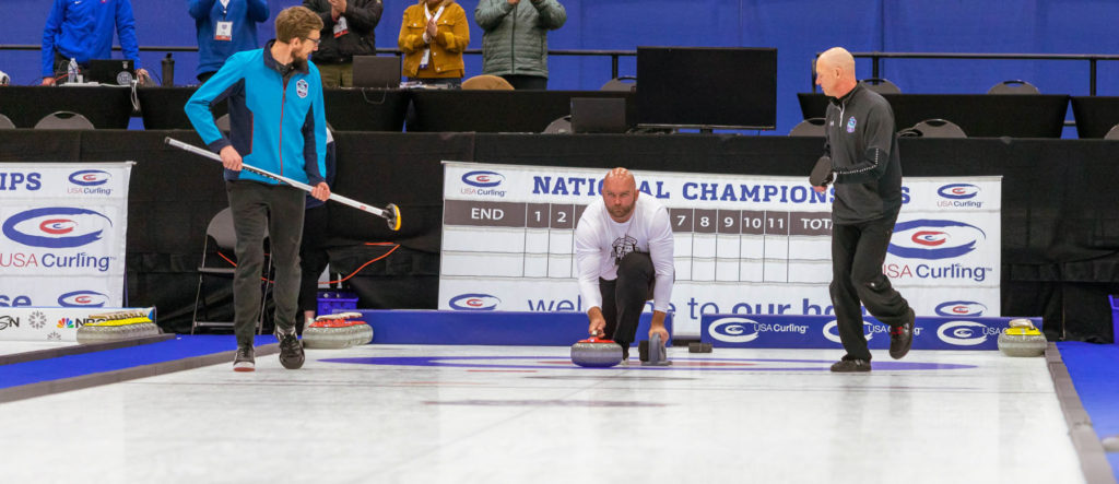 Michael Roos curling competition