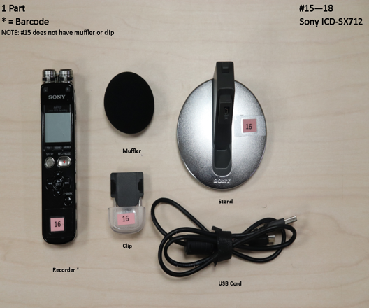 Sony IC Recorder ICD-SX712